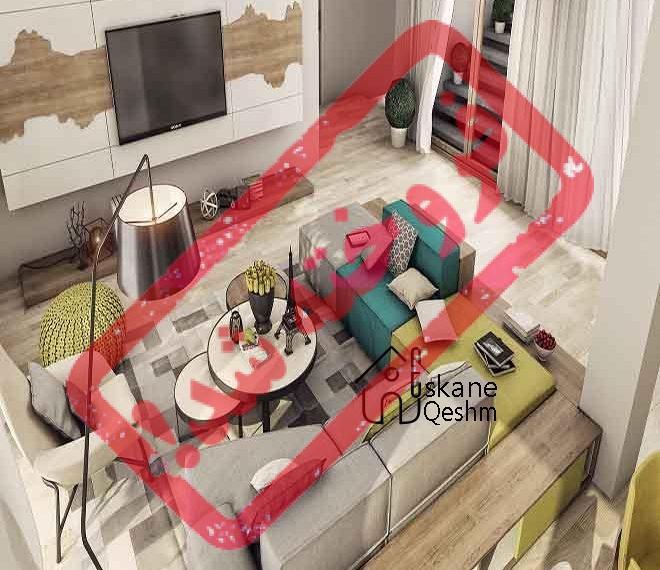 رهن و اجاره آپارتمان مبله در بهترین نقطه قشم | 2 خوابه | وسایل لوکس و مرتب | سام و زال | قیمت ویژه | خانه و آپارتمان در املاک قشم | وسایل کامل رهن کامل